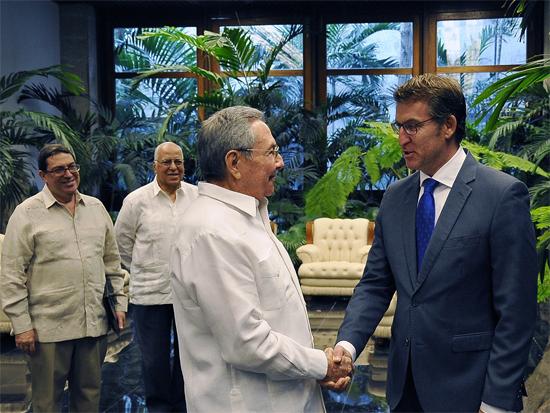 Recibió Raúl al Presidente de la Junta de Galicia