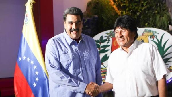 Evo Morales llega a Venezuela en visita oficial