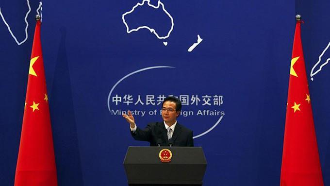 Hong Lei, representante oficial del Ministerio de Exteriores de China