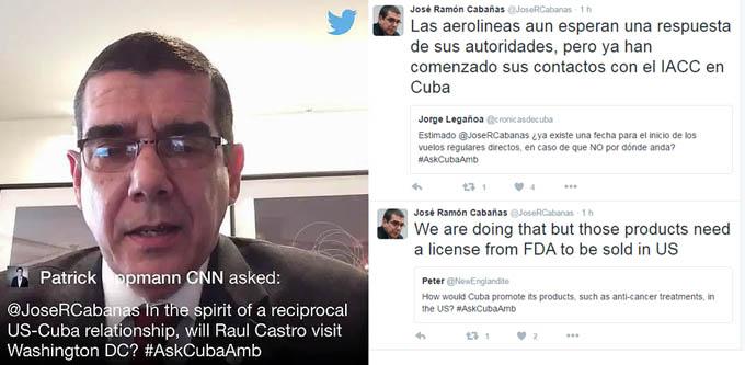 Embajador cubano en Estados Unidos @JoseRCabanas vía Twitter