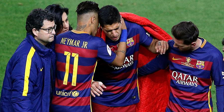 Suárez, lesionado, no podrá empezar la Copa América