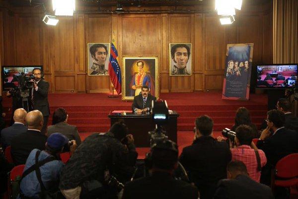 Presidente Maduro condena campaña contra Venezuela