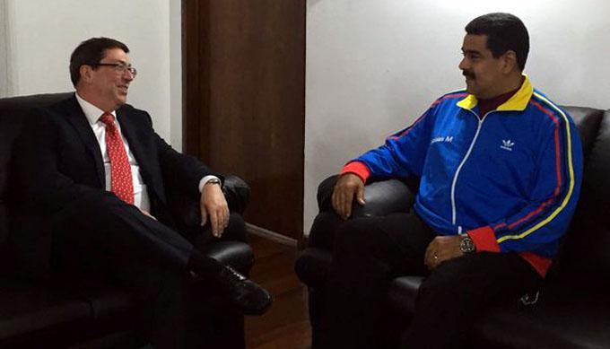 Presidente Maduro recibió a canciller cubano