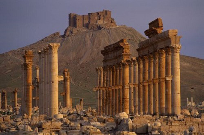 Homenaje a la paz y los mártires en Palmira,Siria