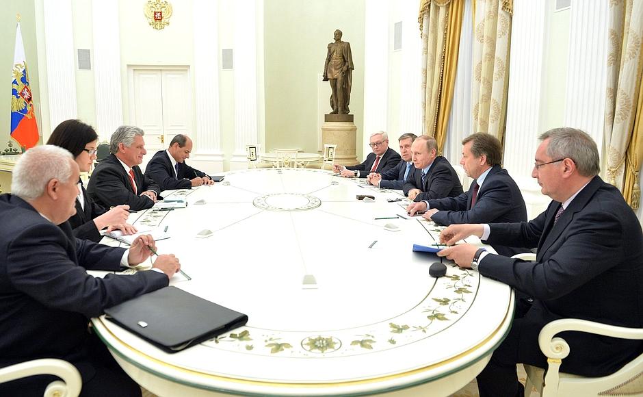 Vladimir Putin y Miguel Díaz-Canel, Cuba-Rusia