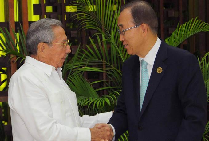 Se reúnen Raúl y Ban Ki-moon