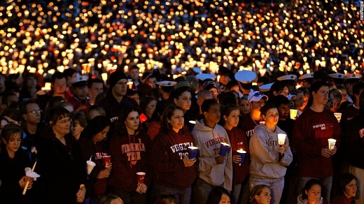Masacre en Estados Unidos, universidad Virginia