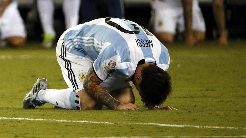 Messi falla un penal, Copa América, Argentina