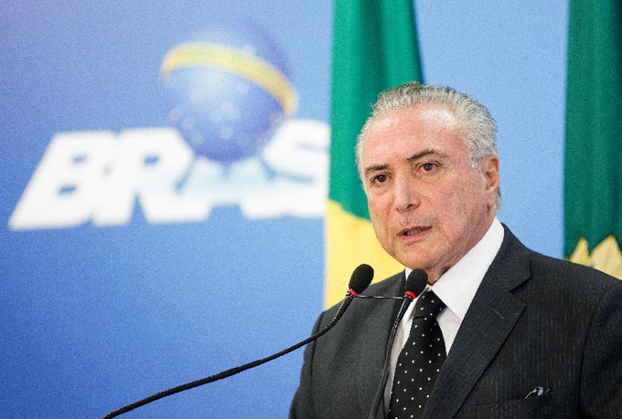 Suspende gobierno interino de Brasil nuevos nombramientos
