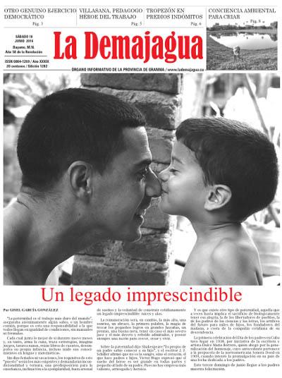 Edición impresa 1282 del semanario La Demajagua, sábado 18 de junio de 2016