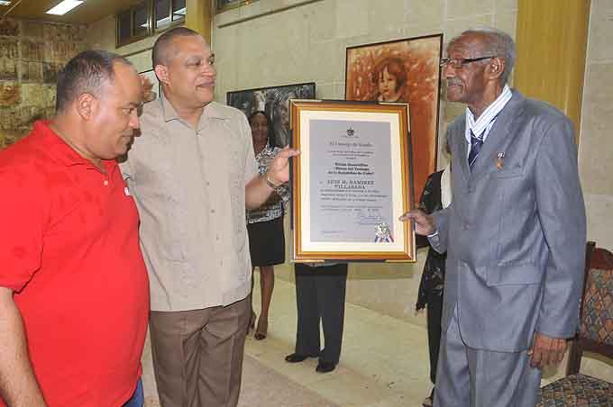 De derecha a izquierda, Luis Ramírez Villasana, Ismael Druyet Pérez y Federico Hernández HernándezFOTO/Luis C. Palacios Leyva