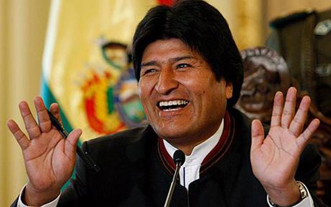 Evo Morales, presidente con gran popularidad mundial