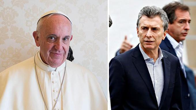 Francisco rechaza una donación del presidente argentino Mauricio Macri