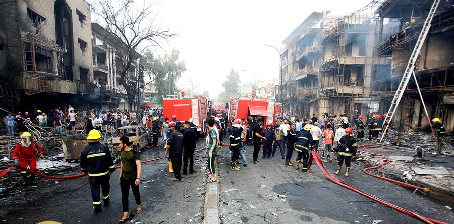 Sube a 290 el número de fallecidos en el atentado de Bagdad