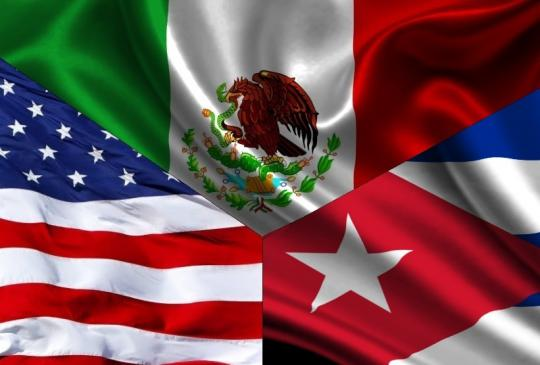 Cuba-México-Estados Unidos
