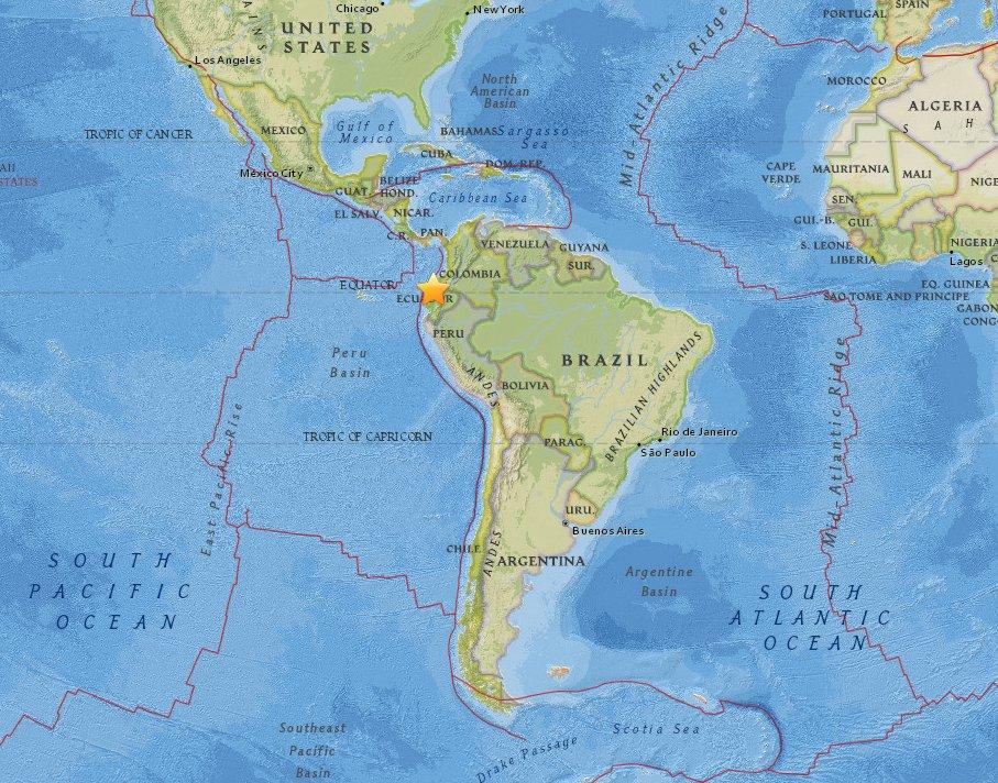 Otras dos réplicas de terremoto sacudena Ecuador