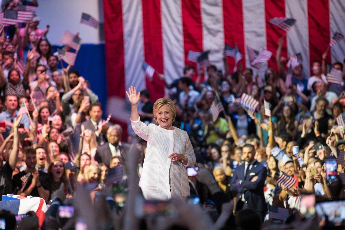 Hillary Clinton es oficialmente candidata a la Casa Blanca