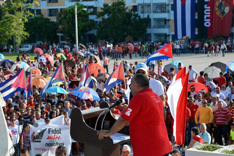 CUBA-GRANMA-CELEBRAN ACTO PROVINCIAL POR EL DÍA DE LA REBELDÍA NACIONAL