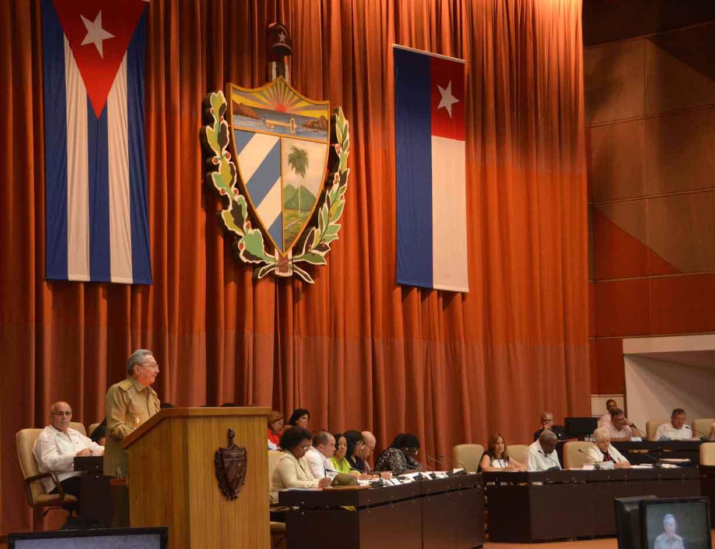 CUBA-LA HABANA-CLAUSURA RAUL SESION PLENARIA DE LA ASAMBLEA NACIONAL DEL PODER POPULAR