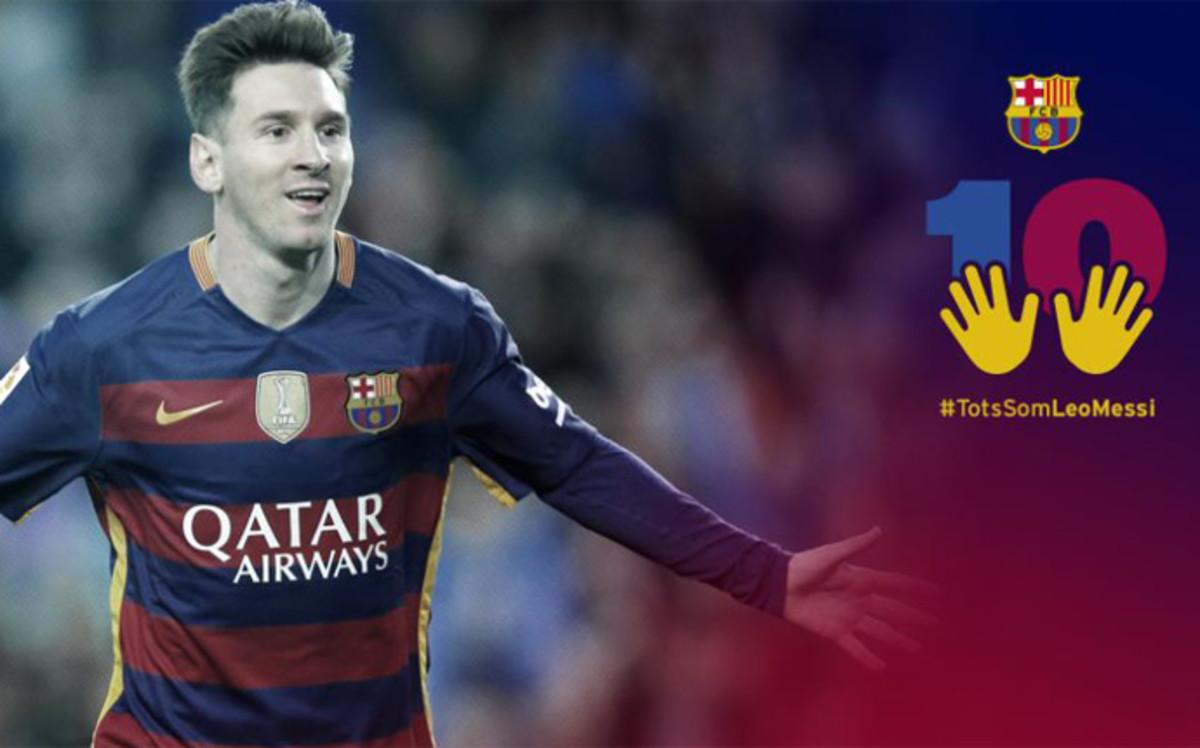 El FC Barcelona lanza la campaña #TodosSomosLeoMessi