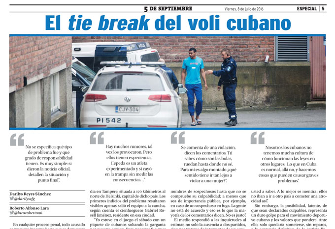 El tie break del voli cubano