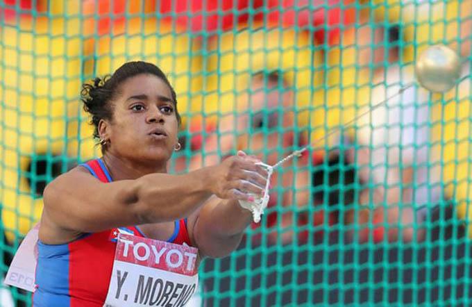 Exmartillista cubana Moreno podría acreditarse corona olímpica de Beijing