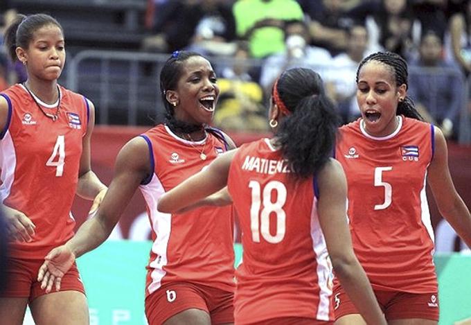 Cuba-Estados Unidos en semifinales de continental de voleibol