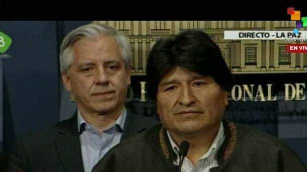 Evo Morales denuncia conspiración política en movilización de mineros