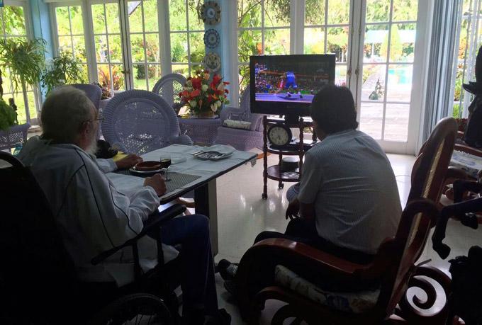 Evo Morales festeja junto a Fidel Castro el segundo oro cubano en los JJ. OO. de Río (+ fotos)