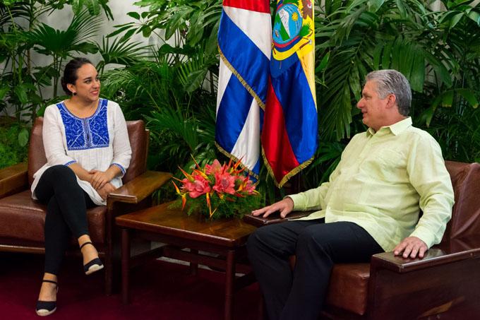 CUBA-LA HABANA-RECIBE MIGUEL DÍAZ-CANEL A PRESIDENTA DE LA ASAMBLEA NACIONAL DEL ECUADOR