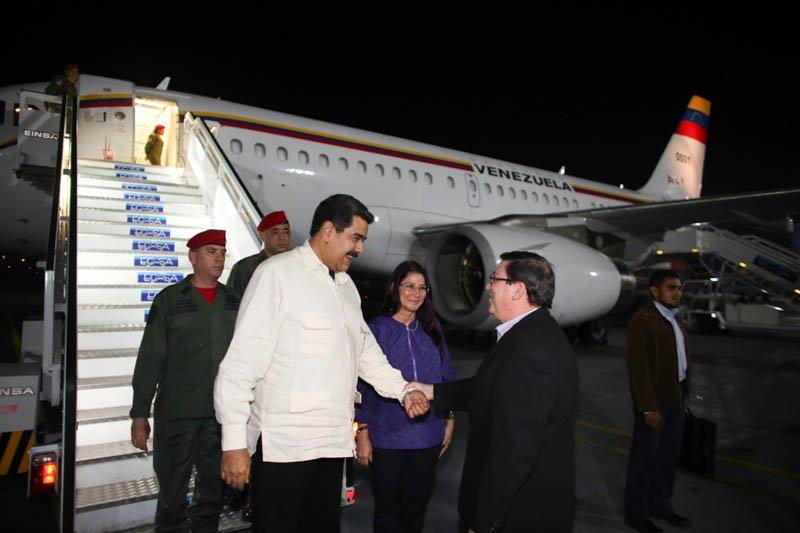 Llegó a Cuba el presidente Nicolás Maduro (fotos)