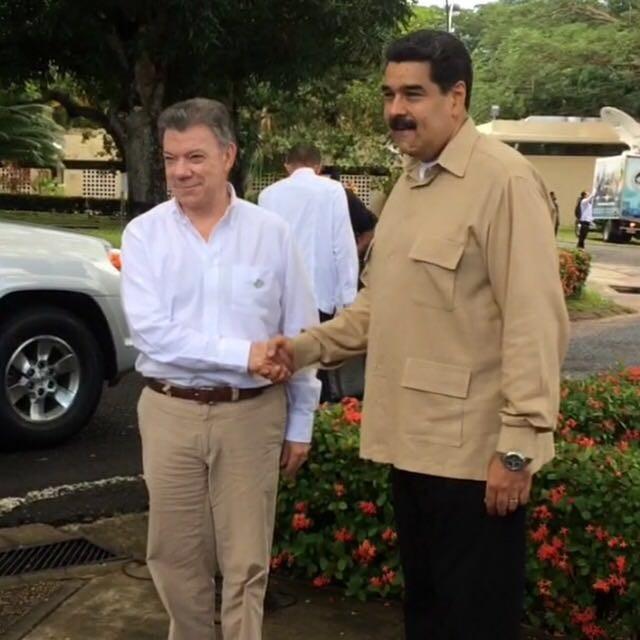 Maduro y Santos, Venezuela