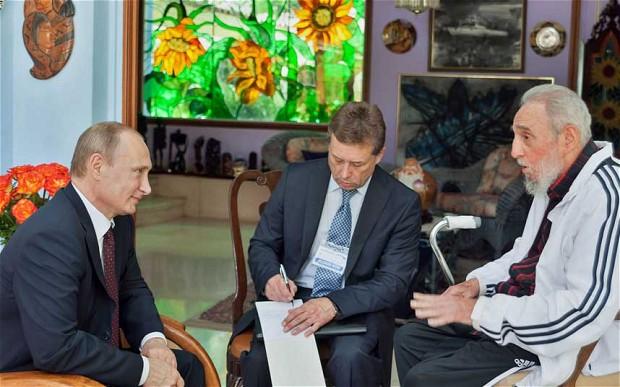 Putin felicita a Fidel Castro por su 90º aniversario