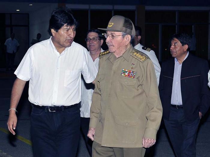 Despidió Raúl al Presidente boliviano