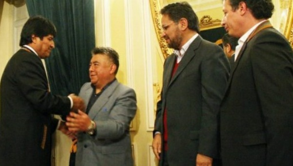 Rodolfo Illanes y Evo Morales