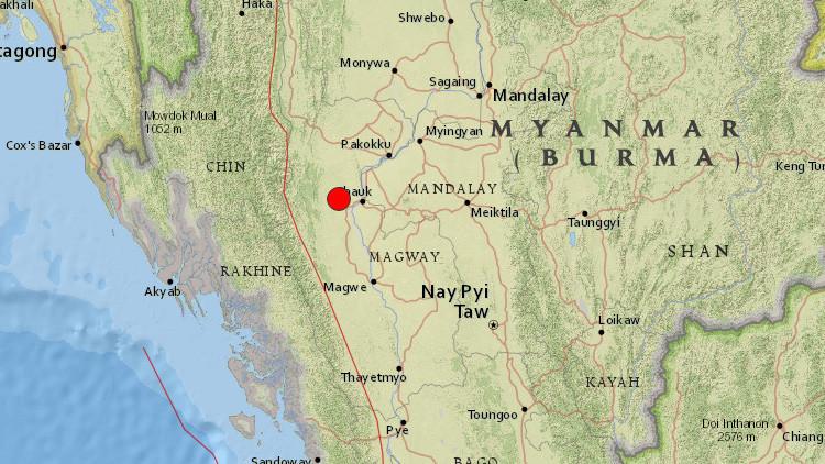 Fuerte terremoto de magnitud 6,8 sacude Birmania y se siente en India, Nepal, Bangladés y Tailandia