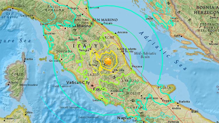Un terremoto de magnitud 6,2 sacude el centro de Italia y se siente fuertemente en Roma