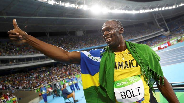 Usain Bolt, 4x100 metros
