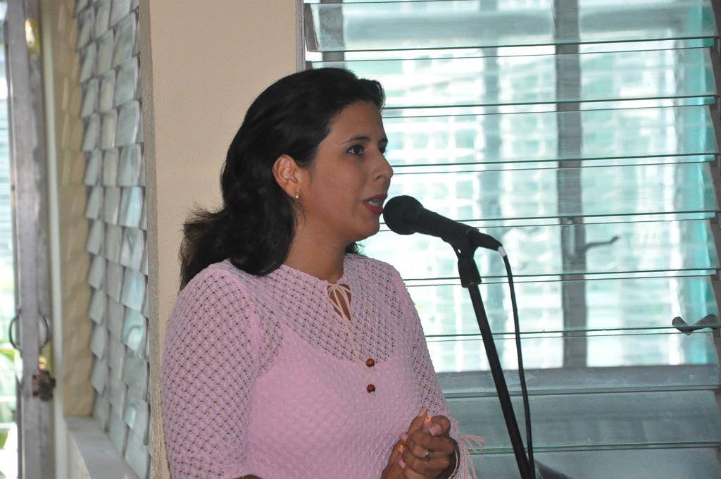 Adriana Cedeño Selva, miembro de la Asociación Cubana de Comunicadores Sociales