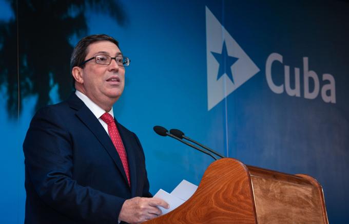 LA HABANA-PRESENTA BRUNO RODRIGUEZ INFORME DE CUBA CONTRA EL BLO
