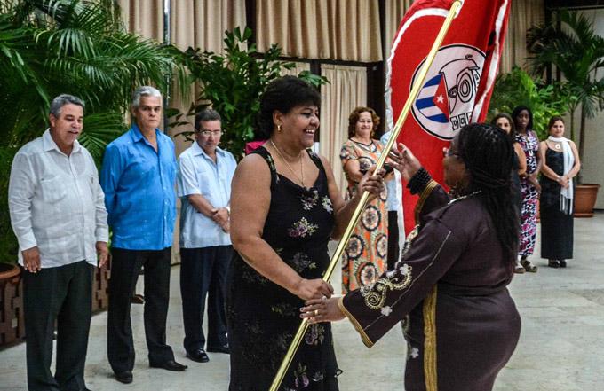 CUBA-LA HABANA-CONDECORAN A CEDERISTAS Y COLECTIVOS DESTACADOS