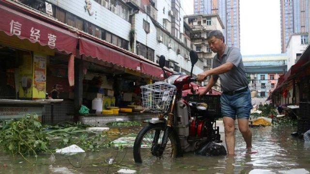 Serias pérdidas en este de China por tifón Meranti