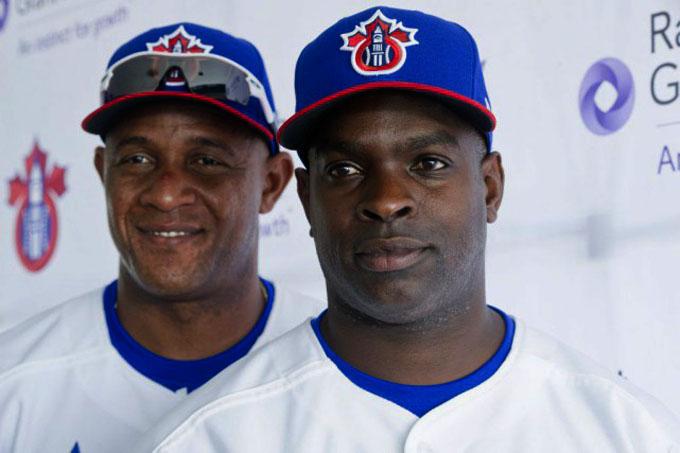 Peloteros cubanos campeones de la Liga Canadiense-Americana