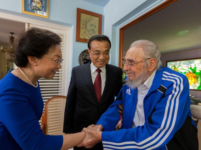 Encuentro de Fidel y Li Keqiang