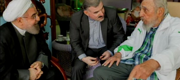 Encuentro entre Fidel y Hassan Rouhani