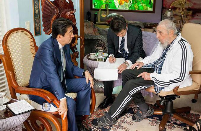 Excelentísimo Señor Shinzo Abe y Fidel Castro