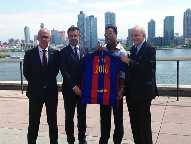 El F.C. Barcelona y UNICEF celebran 10 años de alianza (+ audio)