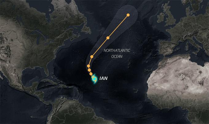 Tormenta tropical Ian permanece en aguas del Atlántico