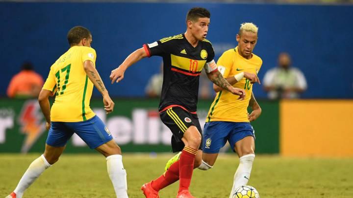 Colombia cae con Brasil y es cuarta en la Eliminatoria