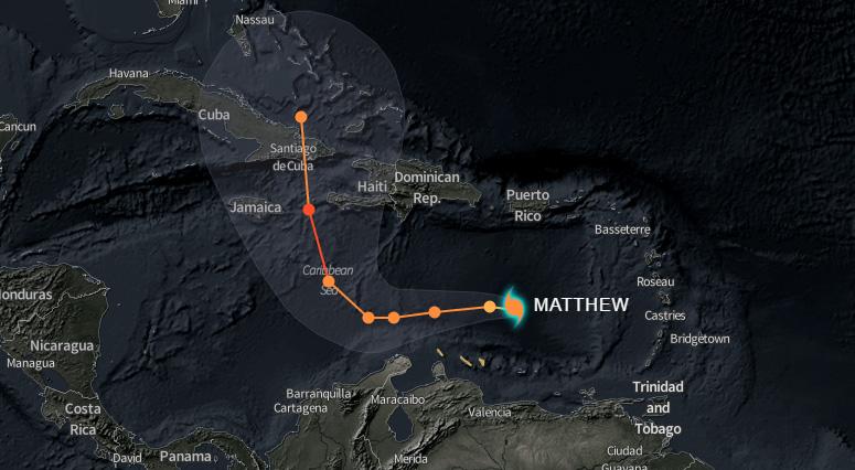 Matthew se convierte en huracán